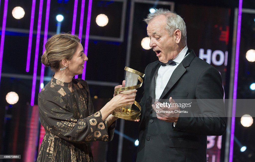 Bill Murray (R) and Sofia Coppola attend the Tribute To Bill Murray during the 15th Marrakech International Film Festival on December 4, 2015 in Marrakech, Morocco.