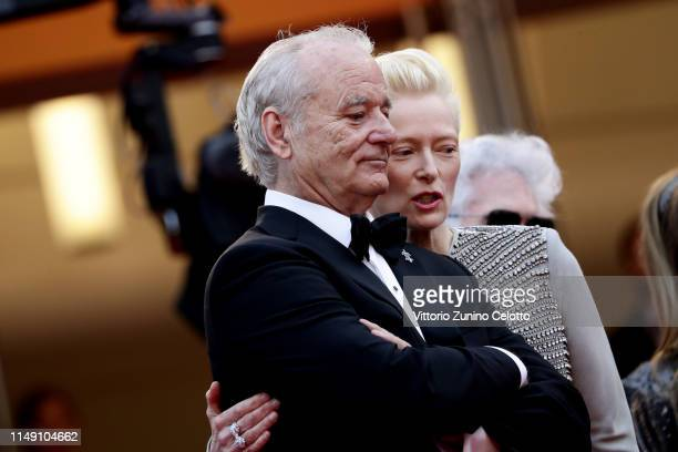 Bill Murray and Tilda Swinton attend the opening ceremony and screening of The Dead Don't Die during the 72nd annual Cannes Film Festival on May 14...