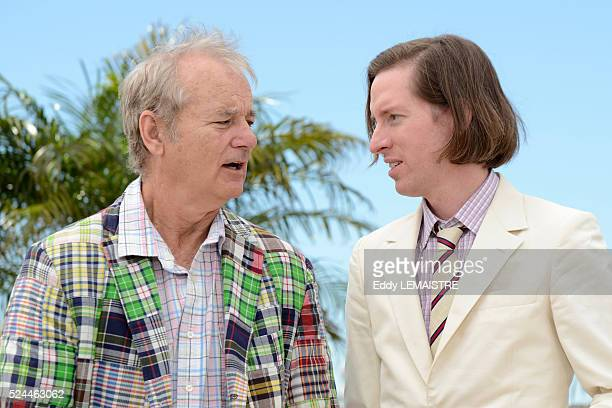 Bill Murray and Wes Anderson at the photo call for Moonrise Kingdom during the 65th Cannes International Film Festival