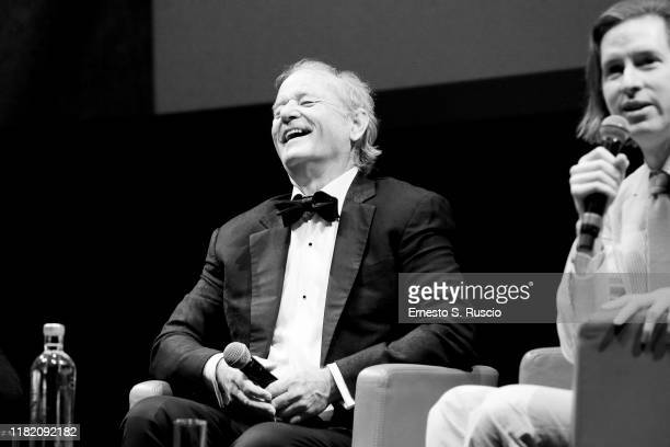 Bill Murray and Wes Anderson attend the masterclass during the 14th Rome Film Festival on October 19 2019 in Rome Italy