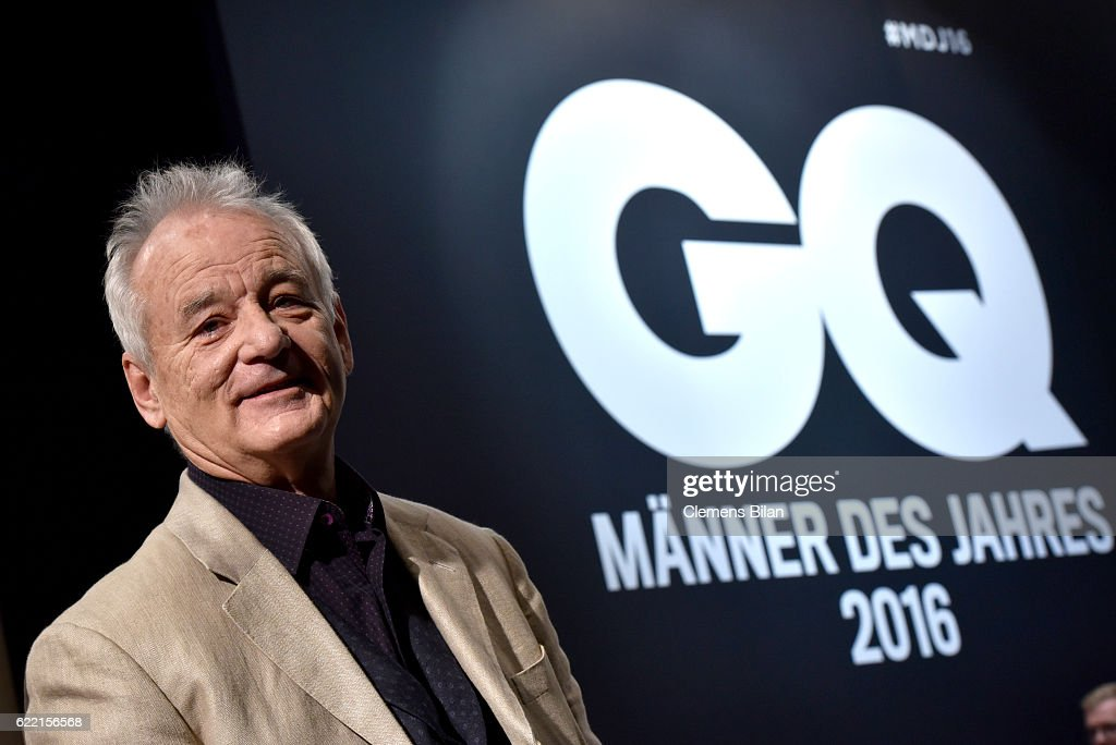 Bill Murray arrives at the GQ Men of the year Award 2016 (german: GQ Maenner des Jahres 2016) at Komische Oper on November 10, 2016 in Berlin, Germany.