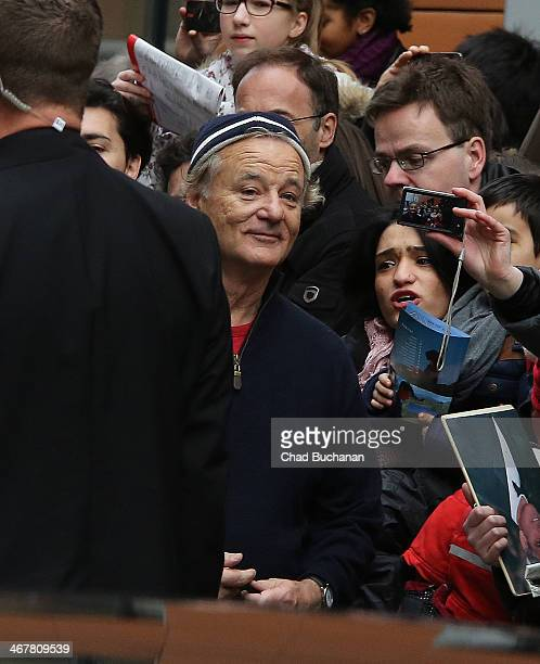 Bill Murray arrives to the 'Monuments Men' press conference during the 64th Berlinale International Film Festival at Grand Hyatt Hotel on February 8,...