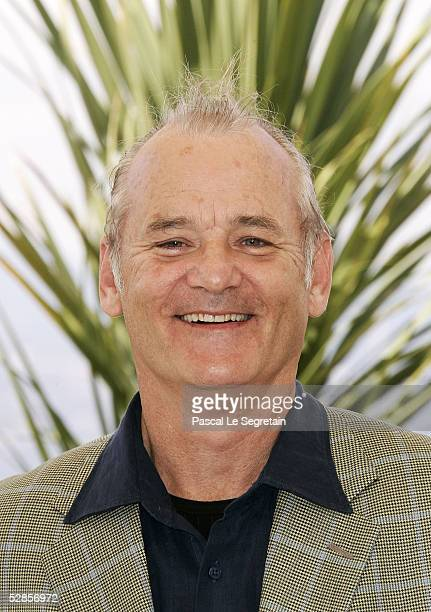 Bill Murray attends a photocall promoting the film 'Broken Flowers' at the Palais during the 58th International Cannes Film Festival May 17 2005 in...