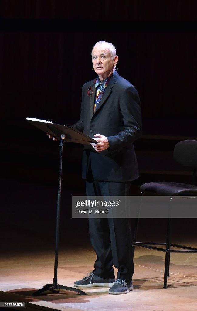 """Bill Murray & Jan Vogler Present: New Worlds"" At Royal Festival Hall, Southbank Centre : Foto jornalística"
