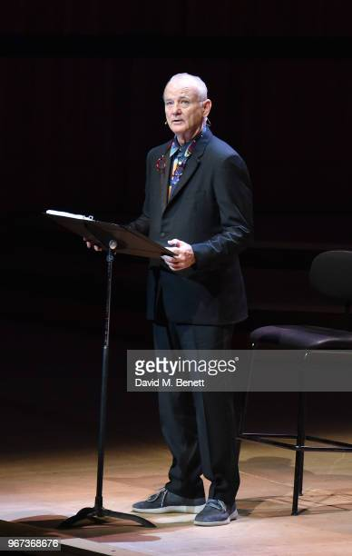 Bill Murray attends Bill Murray Jan Vogler Present New Worlds at The Royal Festival Hall Southbank Centre on June 4 2018 in London England