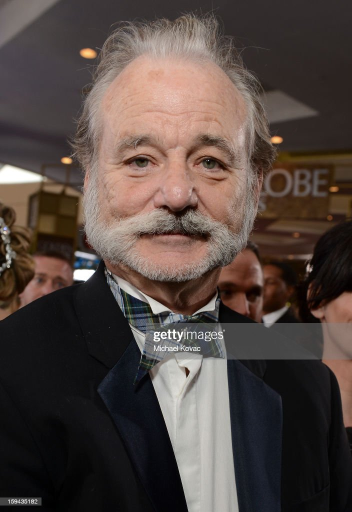Bill Murray attends Moet & Chandon At The 70th Annual Golden Globe Awards Red Carpet at The Beverly Hilton Hotel on January 13, 2013 in Beverly Hills, California.