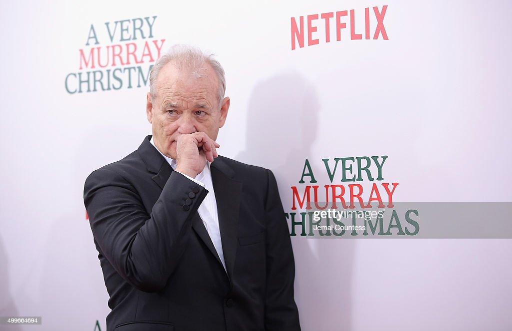 A Very Murray Christmas.Bill Murray Attends The A Very Murray Christmas New York