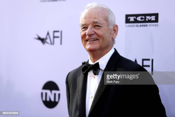 Bill Murray attends the American Film Institute's 46th Life Achievement Award Gala Tribute to George Clooney at Dolby Theatre on June 7 2018 in...