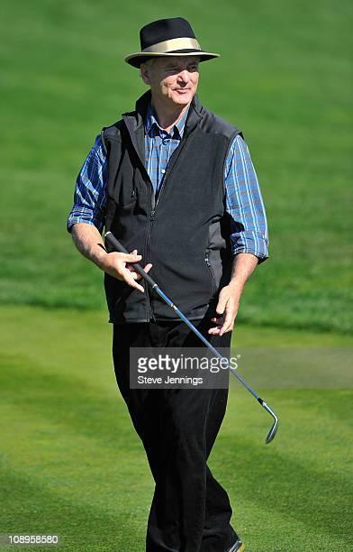 Bill Murray attends the ATT Pebble Beach National ProAm at Pebble Beach Golf Links on February 9 2011 in Pebble Beach California