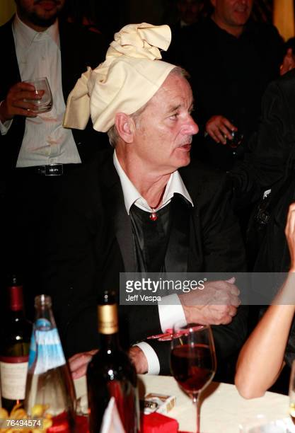 Bill Murray attends The Darjeeling Limited cocktail party during Day 6 of the 64th Annual Venice Film Festival on September 3 2007 in Venice Italy