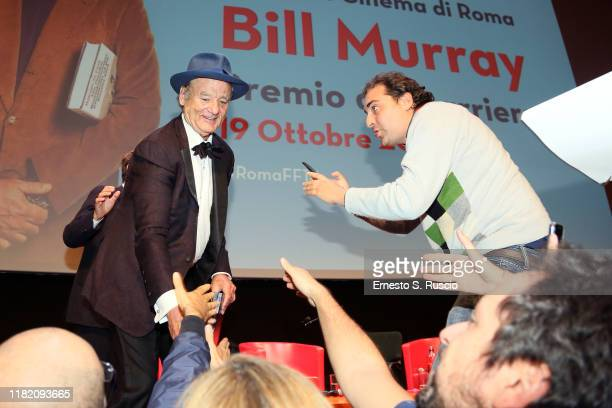 Bill Murray attends the Lifetime Achievement Award during the 14th Rome Film Festival on October 19 2019 in Rome Italy