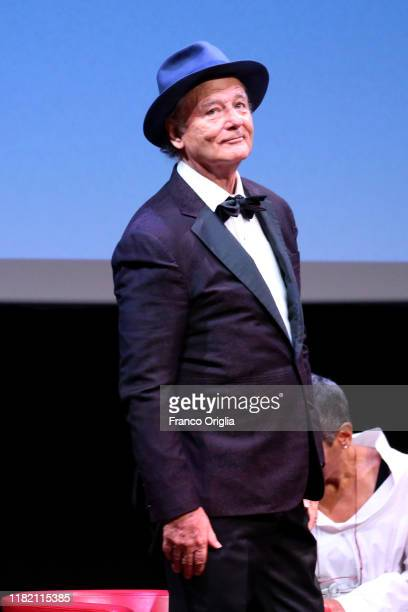 Bill Murray attends the masterclass during the 14th Rome Film Festival on October 19 2019 in Rome Italy