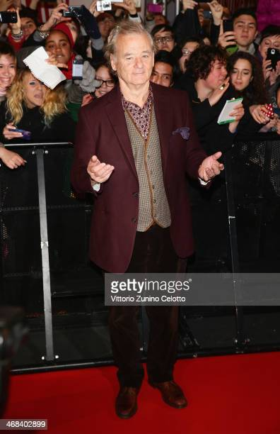 Bill Murray attends 'The Monuments Men' Premiere on February 10, 2014 in Milan, Italy.