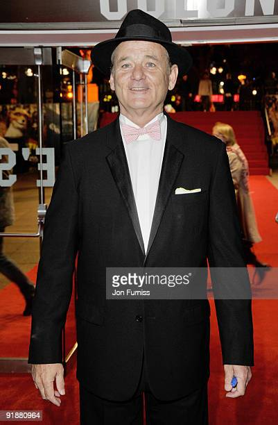 Bill Murray attends the Opening Gala for The Times BFI London Film Festival which Premiere's 'Fantastic Mr Fox' at the Odeon Leicester Square on...