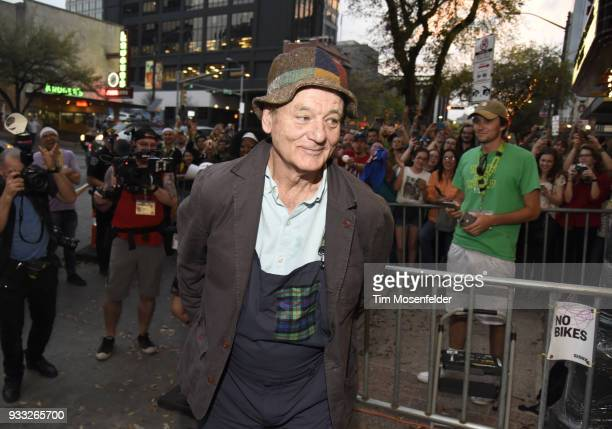 Bill Murray attends the premiere of Isle of Dogs at the Paramount Theatre during the South By Southwest conference and festivals on March 17 2018 in...