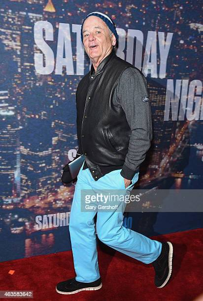 Bill Murray attends the SNL 40th Anniversary Celebration at Rockefeller Plaza on February 15 2015 in New York City