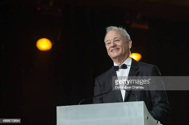 Bill Murray attends the Tribute To Bill Murray during the 15th Marrakech International Film Festival on December 4 2015 in Marrakech Morocco