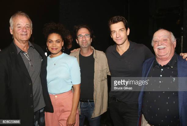 Bill Murray Barrett Doss who plays Rita Danny Rubin Andy Karl and Brian Doyle Murray pose backstage at the hit musical based on the 1993 Bill Murray...