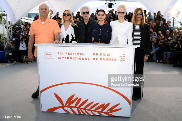 "Bill Murray, Chloe Sevigny, director Jim Jarmusch, Selena Gomez, Tilda Swinton Sara Driver attend the photocall for ""The Dead Don't Die"" during the..."
