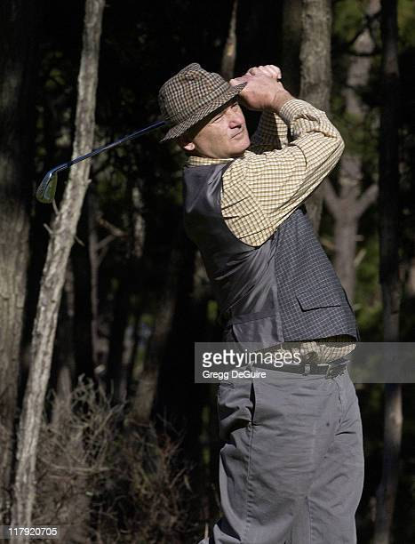 Bill Murray during 2002 AT&T Pebble Beach National Pro-Am, Round 1 at Poppy Hills in Carmel, California, United States.