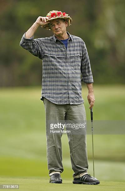 Bill Murray during first round of the ATT Pebble Beach ProAm at Spyglass Hill on Thursday February 8 2007 in Pebble Beach California