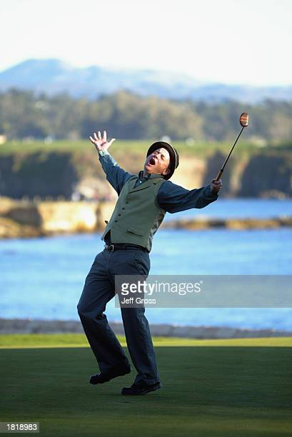 Bill Murray during the third round of the AT&T Pebble Beach National Pro-Am on February 8, 2003 at Poppy Hills Golf Course in Pebble Beach,...