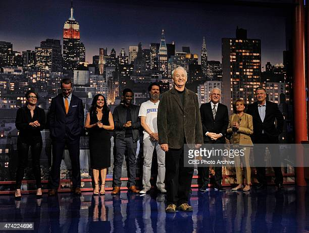 Bill Murray helps present the Top Ten List on the final broadcast of the Late Show with David Letterman, Wednesday May 20, 2015 on the CBS Television...
