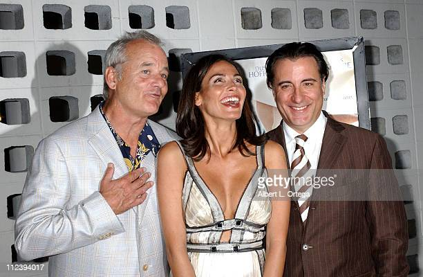 Bill Murray Ines Sastre and director/star Andy Garcia