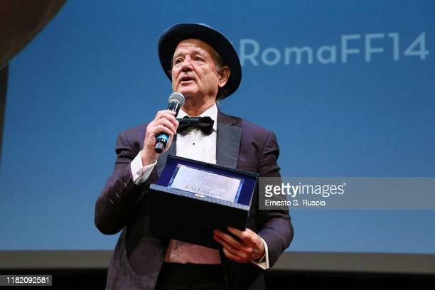 Bill Murray is awarded with Lifetime Achievement Award during the 14th Rome Film Festival on October 19 2019 in Rome Italy