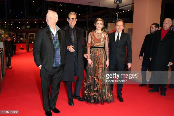 Bill Murray Jeff Goldblum Greta Gerwig and Bryan Cranston attend the Opening Ceremony 'Isle of Dogs' premiere during the 68th Berlinale International...