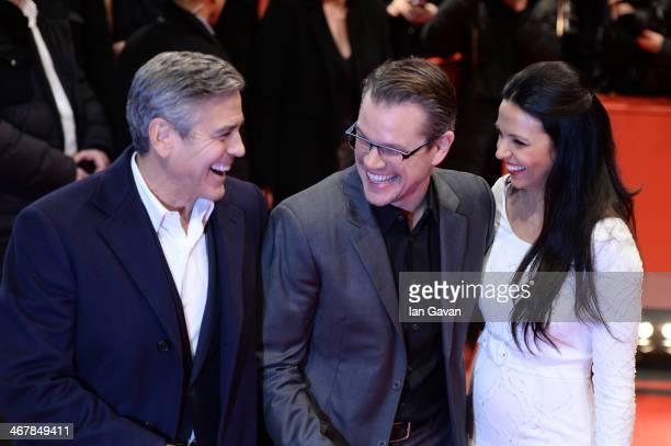 Bill Murray, Matt Damon and Luciana Damon attend 'The Monuments Men' premiere during 64th Berlinale International Film Festival at Berlinale Palast...