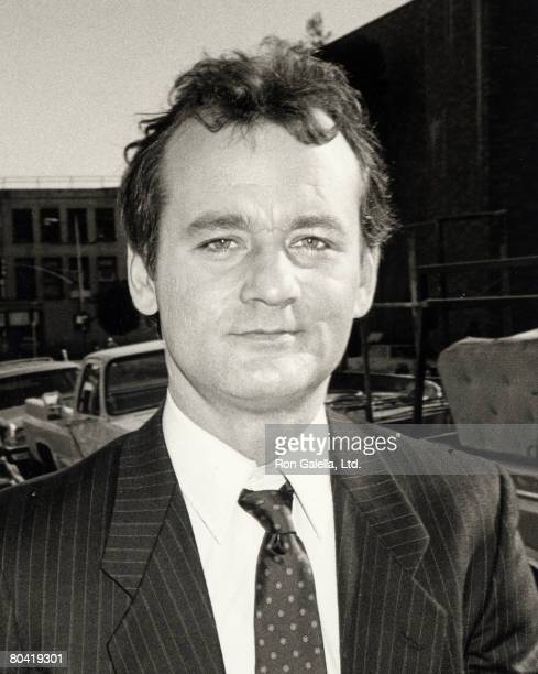 Bill Murray On Location Filming 'Ghostbusters', 11th December 1983.