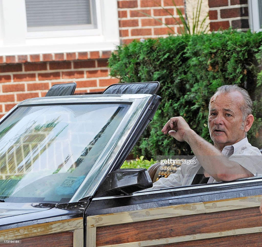Bill Murray on set for the movie 'St. Vincent de Van Nuys' on July 9, 2013 in Brooklyn, New York.