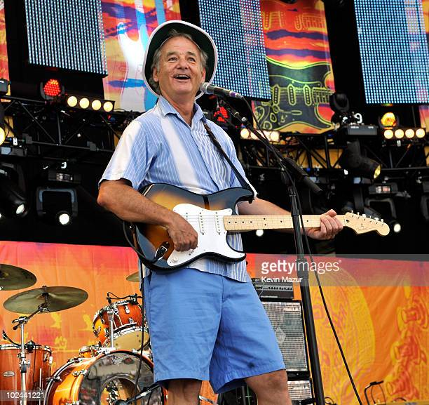 Bill Murray onstage during the 2010 Crossroads Guitar Festival at Toyota Park on June 26 2010 in Bridgeview Illinois