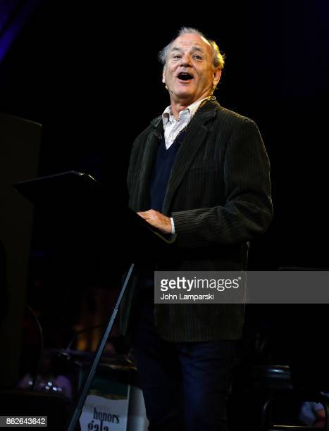 Bill Murray performs during the TJ Martell 42nd Annual New York Honors Gala at Guastavino's on October 17 2017 in New York City