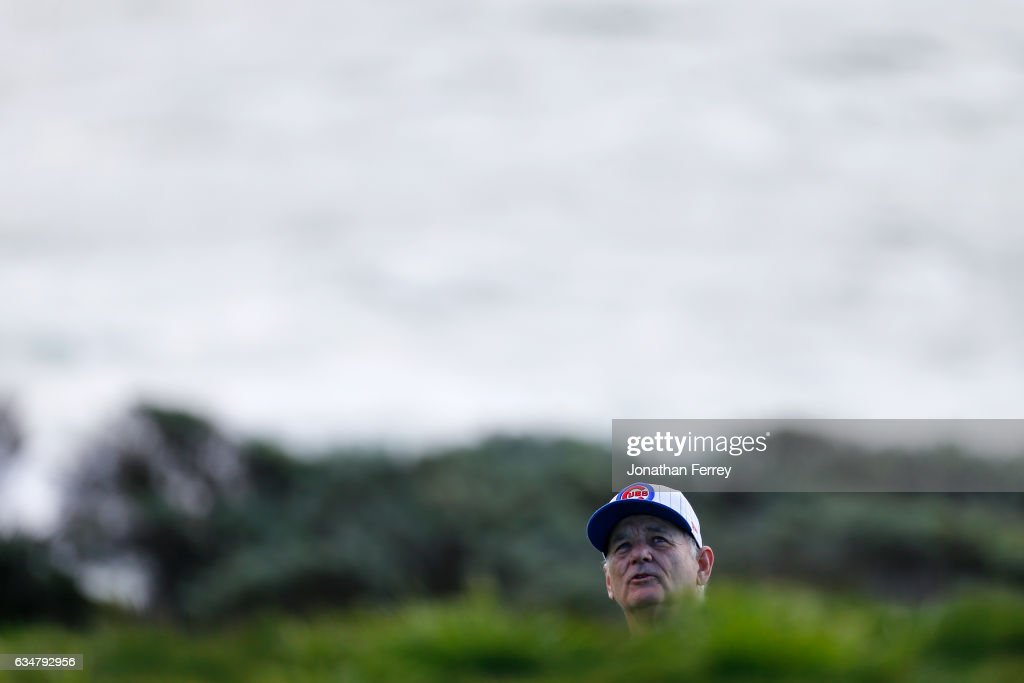 Bill Murray plays a shot on the sixth hole during Round Three of the AT&T Pebble Beach Pro-Am at Pebble Beach Golf Links on February 11, 2017 in Pebble Beach, California.