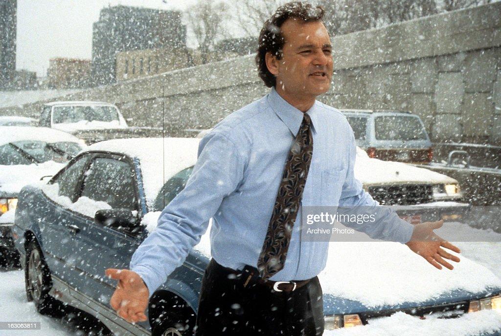 Bill Murray In 'Groundhog Day' : News Photo