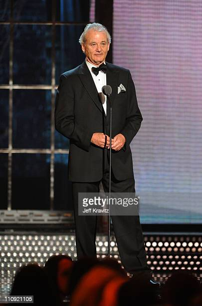 Bill Murray speaks onstage at the First Annual Comedy Awards at Hammerstein Ballroom on March 26, 2011 in New York City.
