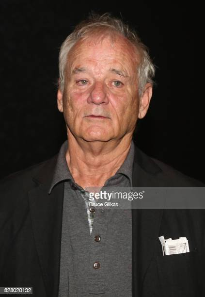 Bill Murray visits backstage at the hit musical based on the 1993 Bill Murray film Groundhog Day on Broadway at The August Wilson Theatre on August 8...