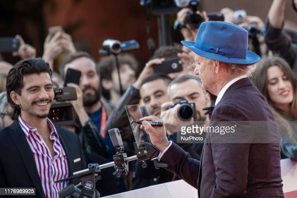 Bill Murray walks the red carpet during the 14th Rome Film Festival on October 19 2019 in Rome Italy