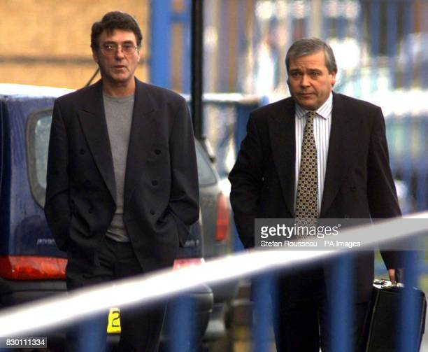 Bill Murray who plays Detective Sergeant Don Beech in the ITV drama 'The Bill' arrives at Basildon Crown Court Essex with his solicitor today...