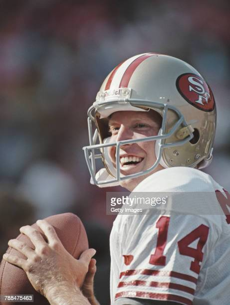 Bill Musgrave Quarterback for the San Francisco 49ers practice squad during the National Football Conference pre season game against the Seattle...