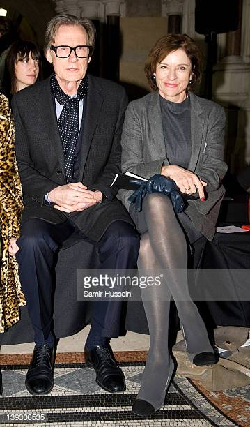 Bill Nighy and Diana Quick attend the Nicole Farhi show during London Fashion Week Autumn/Winter 2012 at the Royal Courts of Justice on February 19...