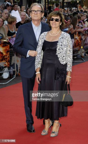 Bill Nighy and Diana Quick during Stormbreaker London Premiere Arrivals at Vue West End in London Great Britain
