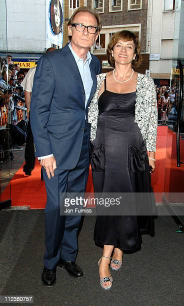 Bill Nighy and Diana Quick during Stormbreaker London Premiere Inside Arrivals at Vue West End in London Great Britain