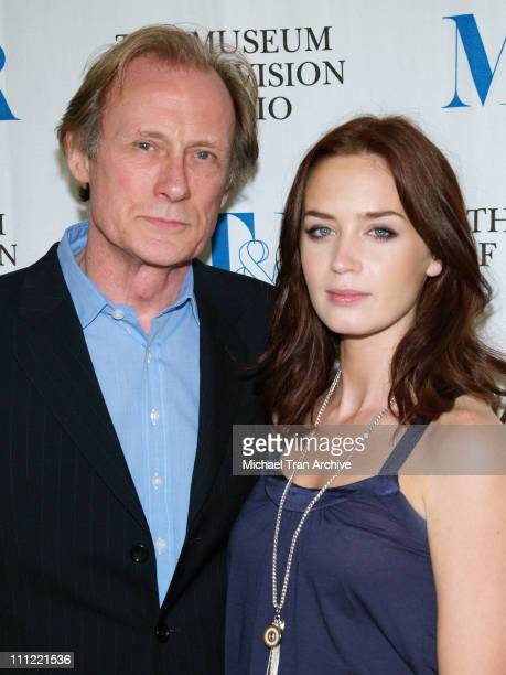 Bill Nighy and Emily Blunt during 'Gideon's Daughter' Los Angeles Screening Arrivals at The Museum of Television and Radio in Beverly Hills...