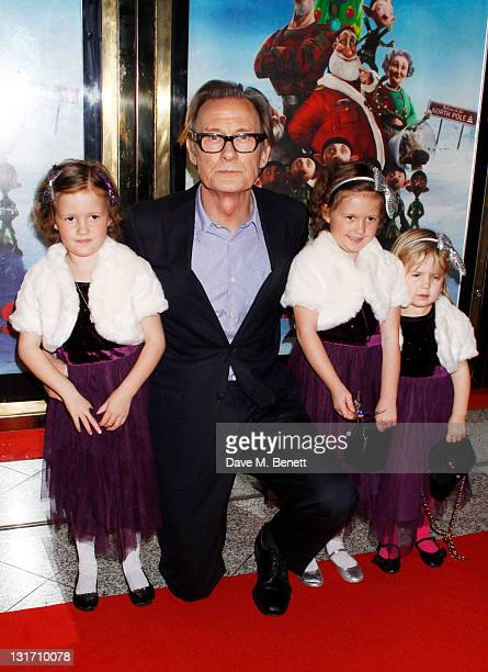 Bill Nighy and guests attend the UK Premiere of Arthur Christmas at the Empire Leicester Square on November 6 2011 in LondonEngland