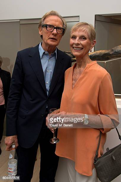 Bill Nighy and Paulene Stone attends a private view of 'The Human Hand' a new exhibition of sculptures by Nicole Farhi at Bowman Sculpture on...