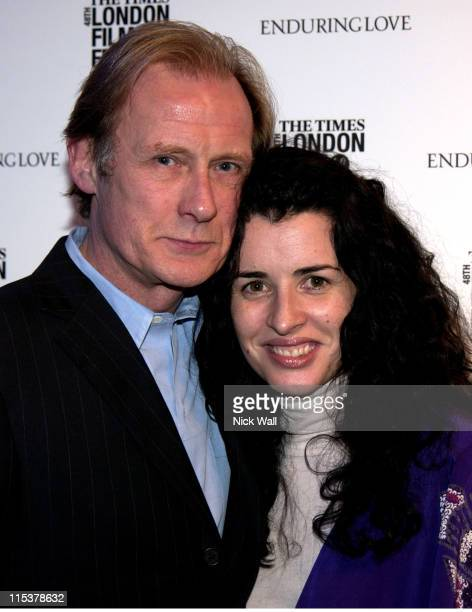 Bill Nighy and Susan Lynch during The Times BFI London Film Festival 2004 'Enduring Love' Gala at Enduring Love Gala in London Great Britain