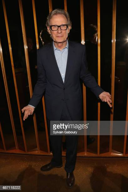 Bill Nighy attends the after party for 'Their Finest' screening hosted by STXfilms and EuropaCorp with The Cinema Society on March 23 2017 in New...